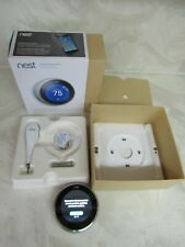 Nest Learning Thermostat stainless steel A0013  t3007es 3RD GENERATION complete