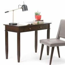 Simpli Home Carlton Collection Home Office Desk Dark Tobacco Brown