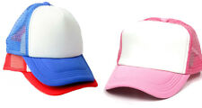 Coloured Sublimation Baseball Cap Adult Child Kid Pink Blue Red Black Heat Press