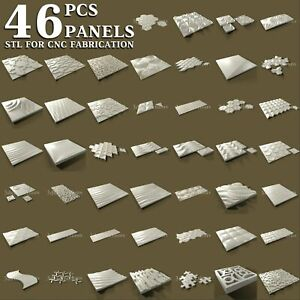 46 pcs set 3d stl model for CNC Router Artcam Aspire