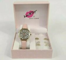 Luv Betsey Gold Quartz Watch Pink Blush And Earrings Gift Set  248397GLD710 New