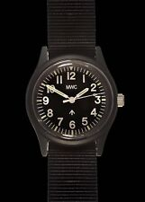MWC Retro Black NATO Pattern General Service Watch with a European Dial Format