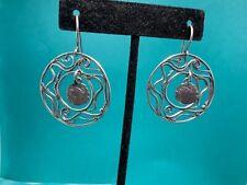 404782d55 Silpada Oxidized 925 Sterling Silver Round Woven Swirl Dangle Earrings NWOT