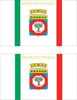 2x Adhesivo adesivi pegatina sticker vinilo bandera vinyl italia apulia