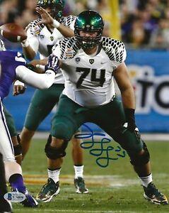 Kyle Long Chicago Bears signed Oregon Ducks 8x10 photo autographed BAS Beckett
