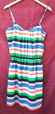CRIMSON COAST small orange, blue, white STRIPED sleeveless DRESS NWT $58