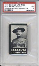 1901 Ogdens Ltd Tabs BADEN POWELL PSA 3 VG Boy Scout Inventor Vintage Card