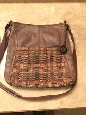 the SAK Iris Brown Leather Crossbod