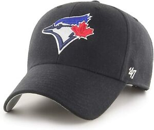 Toronto Blue Jays Black Adjustable Hat Cap 47 Brand New MLB MVP Baseball Strap