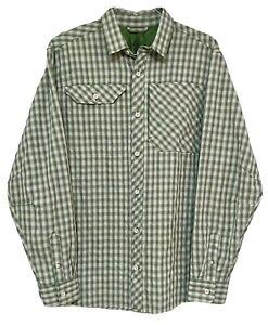 Eddie Bauer Mens Outdoor Shirt Size XL Plaid Vented Fishing Hiking Camping EUC