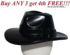 ☀️NEW Lego Minifig Headgear Hat Wide Brim Outback Style Fedora Black minifigure