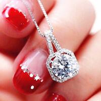 Choker Fashion Charm Jewelry Crystal Pendant Chain Chunky Statement Necklace