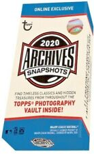 2020 TOPPS ARCHIVES SNAPSHOTS Base+Walkoff Wires+Black & White HOF RC YOU PICK!