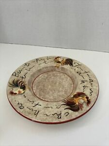 """Yankee Candle Rooster Large Saucer/Plate Chicken Decor Red Light Brown  7.5"""""""
