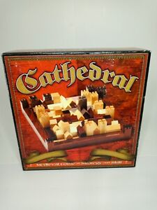 CATHEDRAL Boardgame Wooden Medieval  Strategy Game Complete
