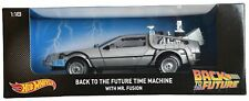 Hot Wheels 1:18 scale die cast Back to The Future Time Machine with MR. Fusion
