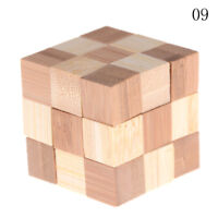 IQ BRAINteaser Kong Ming Lock de madera rebabas de enclavamiento 3D PuzzleSC