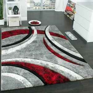 Angelo Grey/Red Rug