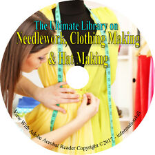 202 Books on DVD, Ultimate Library on Needlework, Clothing & Hat Making