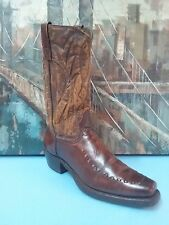 Vintage CAT'S PAW Cowboy Western Boots Leather Shoes Brown 10D