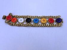 PATRICK KELLY PARIS Vintage Signature Button Bracelet Collectable Rare France