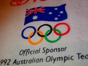 1992 BARCELONA OLYMPICS TOYOTA AUSTRALIA OLYMPIC Sponsor Golf Polo Logo Shirt L