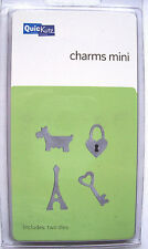 QuicKutz MINI CHARMS KS-0300 Dog Heart Key Eiffeltower 2 RARE Metal Cutting Dies