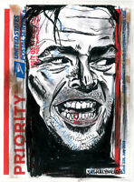 The Shining Here's Johnny Street Art Graffiti Sticker Drawing Priority Mail