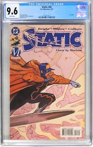 D222 Static #45 DC Comics CGC 9.6 NM+ (1997) Last Issue, White Pages