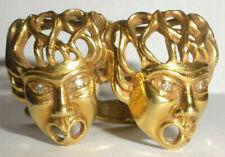 Exquisite Vintage 18k gold Greek mask Medusa diamonds Cufflinks Lalaonis style