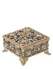 Victorian Trading Pewter Crystal Rhinestone Heloise Trinket or Jewelry Box