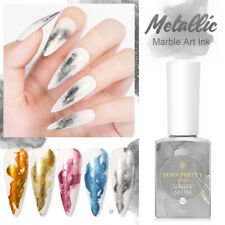 BORN PRETTY PRO Metallic Pearly Marble Art Ink  Watercolor Nail Polish Blooming