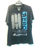 Aeropostale Mens Graphic T-SHIRT Surfboards Size XL Black Short Sleeves Cotton