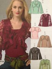 McCalls Sewing Pattern 5236 Ladies Misses Lined Unlined Shrug Top Size 4-10 UC