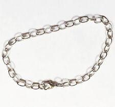 Bulk 20 pcs platinum color chain bracelet with lobster clasp 8 inch