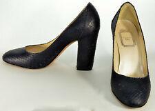 CHRISTIAN DIOR MIDNIGHT NAVY SNAKE SKIN HIGH HILL SHOES SIZE 36