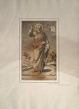 Burin sur vergé, Jésus Christ, Girolamo Rossi, XVIIème d'après Raphaël