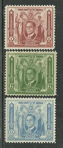 U.S. Possession Philippines stamps scott 408, 409, 410 issues of 1936 - mng - 4x