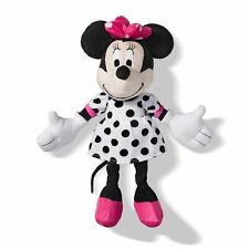 Disney Minnie Mouse Doll Embroidery Pink White Polka Dots Throw Pillow