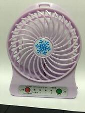 Portable LED Light Fan Air Cooler Mini Desk USB Battery Fan Third Wind