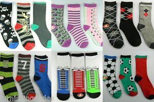 6 Pairs Boys Children's Kids Socks Designer Character All Sizes