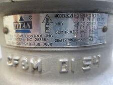 "Titan Flow Control Inc Model CV42 Stainless Steel 3-1/8""I.D.-5-3/4"" O.D. Great!"