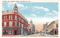 A81/ Connersville Indiana In Postcard c1910 Central Avenue North Stores