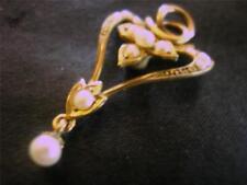 Pearl Yellow Gold Pendant/Locket Art Nouveau Fine Jewellery