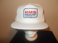 VTG-1990s RMS Road Machinery & Supplies golf style strapback hat sku4