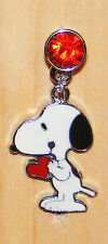 snoopy phone charm Red heart anti-dust 3.5mm iphone 4 4s & Smart Phone 4G