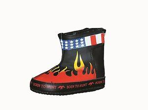 Willie's Baby Biker Boots, Duck Commander Flame Shoes