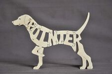 English Short Hair Pointer Dog Wood Toy Puzzle Amish