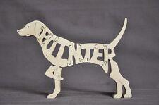 English Short Hair Pointer Dog Wood Toy Puzzle Amish