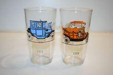 Vintage 1910 Buick 1911 Oakland 1913 Chevrolet & 1908 Ford Old Cars Glasses Lot